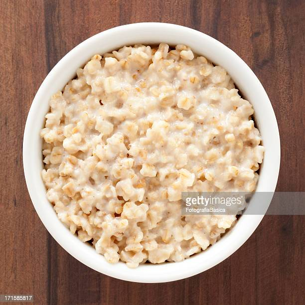 oatmeal - bowl stock pictures, royalty-free photos & images