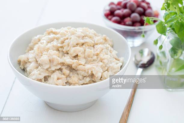 Oatmeal porridge in bowl