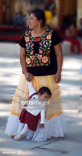 Oaxacan mother and Child Traditional dress