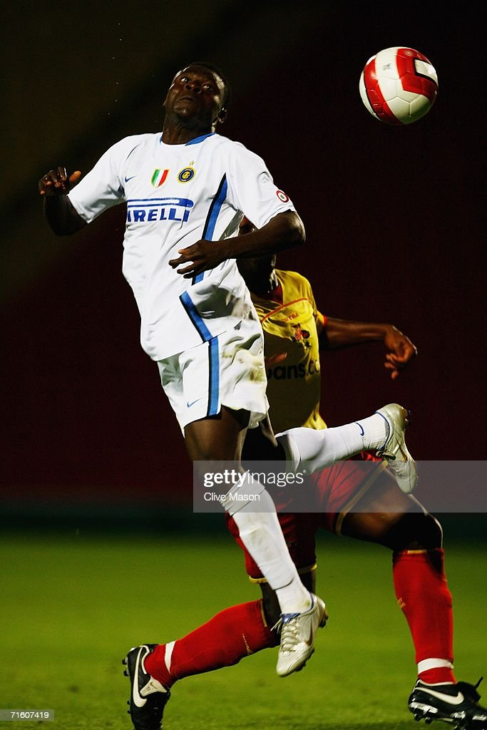 Obafemi Martins of Inter Milan in action during the friendly match between Watford and Inter Milan at Vicarage Road on August 8, 2006, in Watford, England.