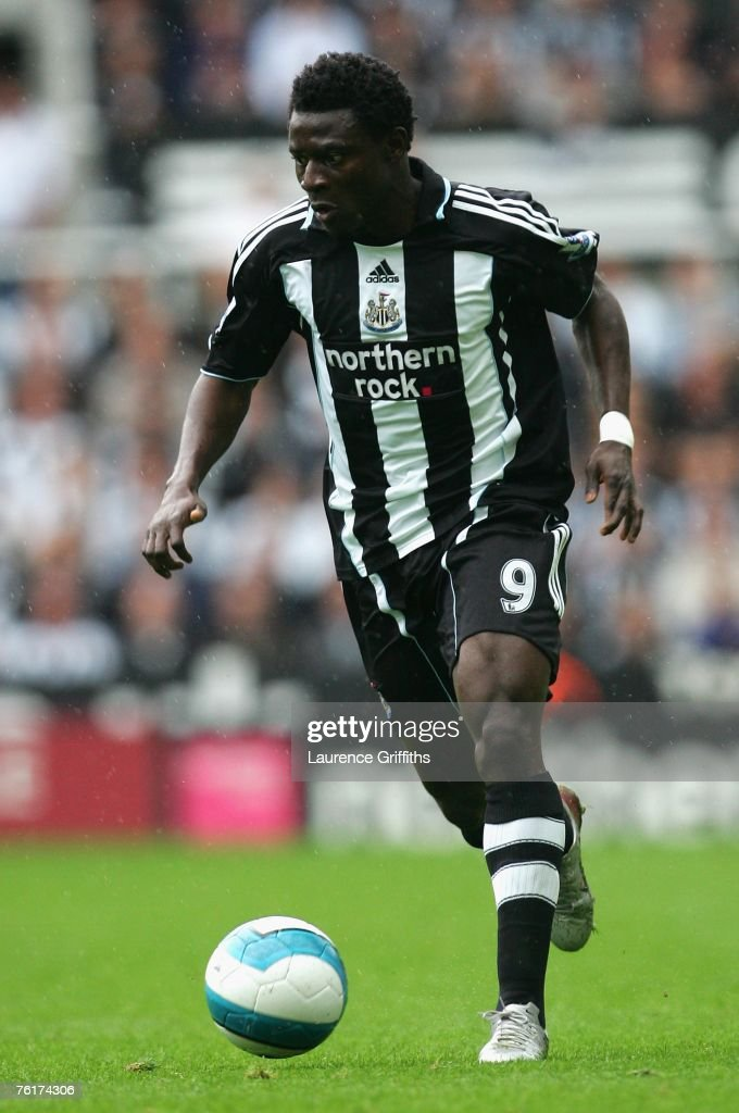 Obafemi Martins of Newcastle United in action during the Barclays Premier League match between Newcastle United and Aston Villa at St James' Park on August 18, 2007 in Newcastle, England.