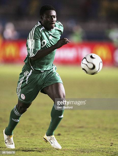 Obafemi Martins of Nigeria in action during The African Cup of Nations Third Place Playoff match between Senegal v Nigeria at The Military Acadamy...