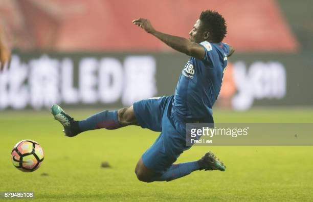 Obafemi Martins of Shanghai Greenland Shenhua in action during the 2017 CFA Cup Final Round match between Shanghai SIPG and Shanghai Greenland...