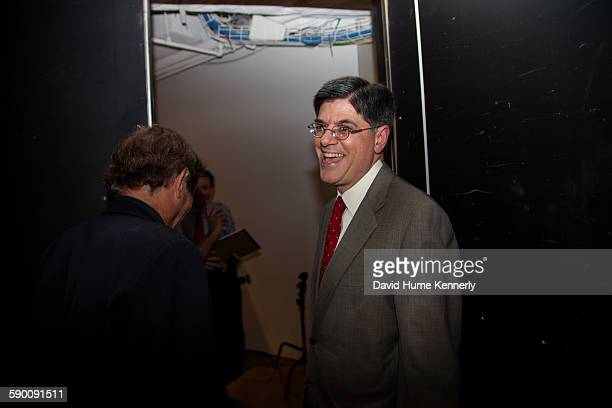 Obama administration's Secretary of the Treasury and former White House Chief of Staff Jack Lew after being interviewed for 'The Presidents'...