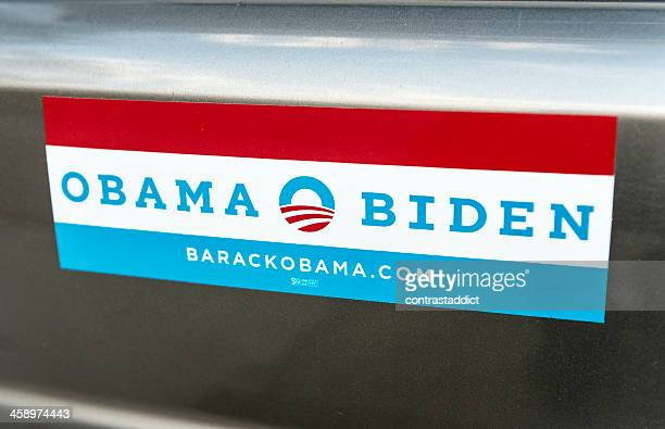 obama bumper sticker. - bumper sticker stock photos and pictures