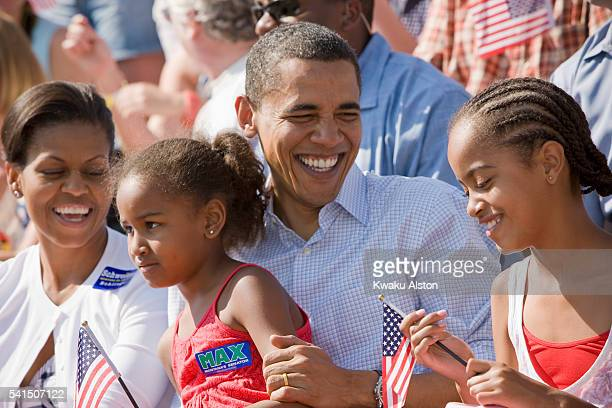 Obama Family are photographed for Essence Magazine on July 4 2008