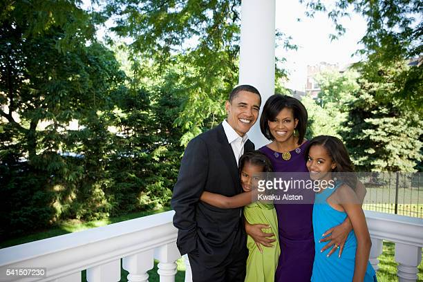 Obama Family are photographed for Essence Magazine on June 19 2008 at home in Chicago Illinois PUBLISHED IMAGE