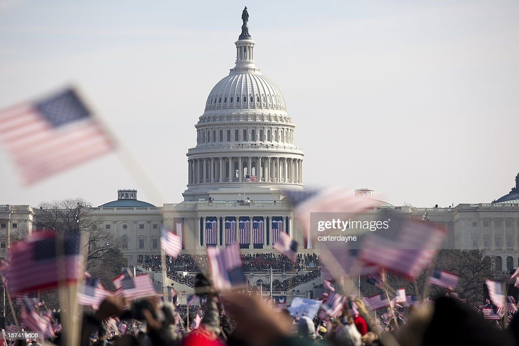 Obama inauguration at the Capitol building in Washington DC : Stock Photo