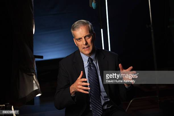 Obama White House Chief of Staff Denis McDonough interviewed for 'The Presidents' Gatekeepers' documentary in the Old Executive Office Building, May...