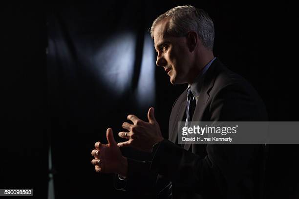 Obama White House Chief of Staff Denis McDonough interviewed for 'The Presidents' Gatekeepers' documentary in the Old Executive Office Building May...