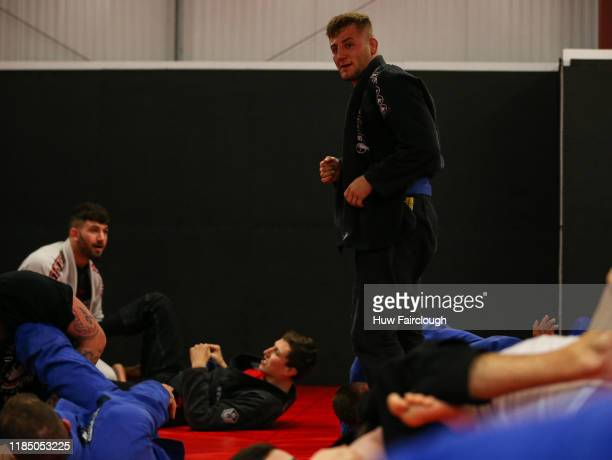 Oban Elliot n looks for his next grappling partner at the opening of Shore Mixed Martial Arts on November 2 2019 in Abertillery Wales