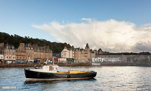 oban harbour - theasis stock pictures, royalty-free photos & images