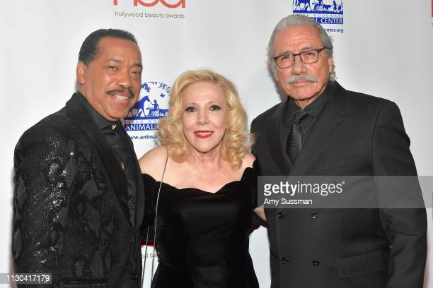 Obba Babatunde Michele Elyzabeth and Edward James Olmos attend the Hollywood Beauty Awards at Avalon Hollywood on February 17 2019 in Los Angeles...