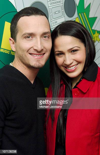 Obe and Jennifer Pena during NeYo Diego Luna and Obe Visit and Jennifer Pena Guest Host MTV Tr3s' MiTRL April 24 2007 at MTV Studios Times Square in...