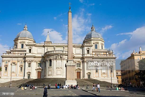 Obelisk in front of a church, Piazza dell'Esquilino, Santa Maria Maggiore Church, Rome, Italy