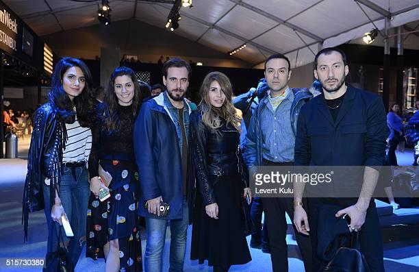 Oben Budak , Alex Koko , Billur Saatci and guests attend the Mercedes-Benz Fashion Week Istanbul Autumn/Winter 2016 at Zorlu Center on March 15, 2016...