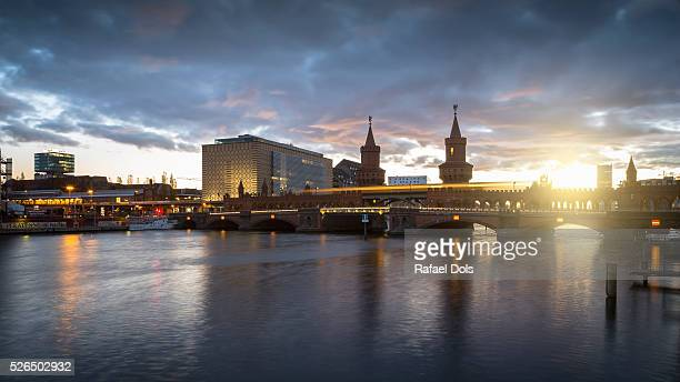 Oberbaum Bridge at sunrise - Berlin, Germany