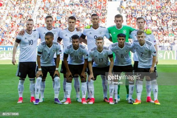 obere Reihe Maximilian Arnold of Germany Niklas Stark of Germany MarcOliver Kempf of Germany Davie Selke of Germany Goalkeeper Julian Pollersbeck of...