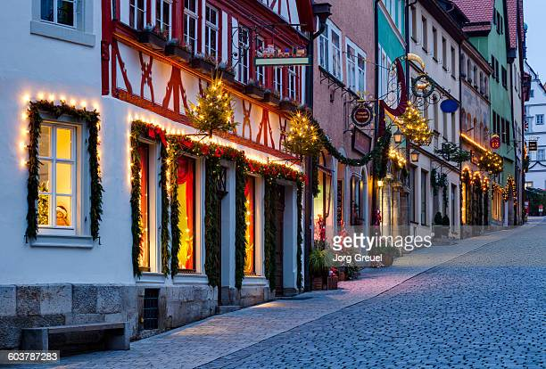 Obere Schmiedgasse at Christmas