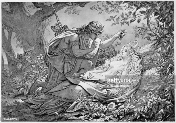 Oberon and Titania 19th century Oberon King of the Fairies and his consort Titania from Shakespeare's A Midsummer Night's Dream Artist Unknown