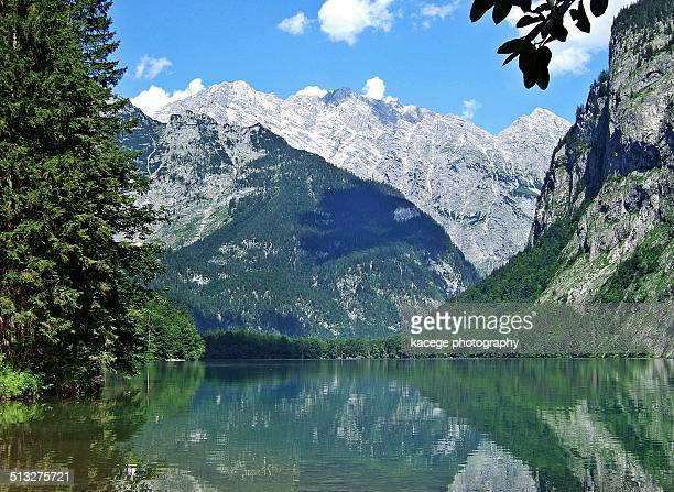 obersee, bavaria - königssee bavaria stock photos and pictures