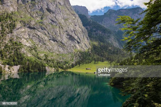 Obersee in Bayern mit fischunkenalm