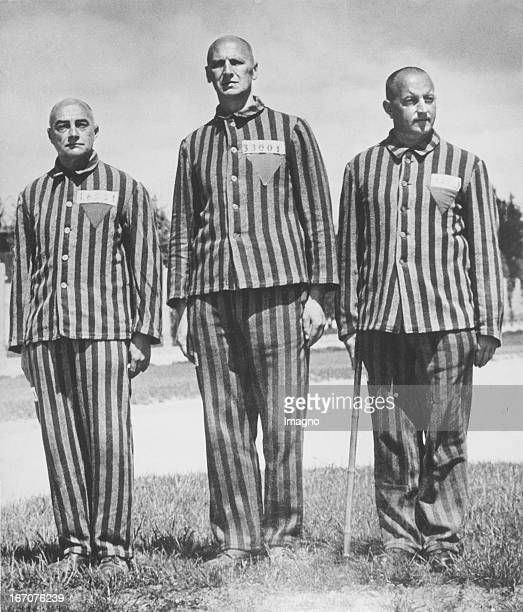 Oberst Franz Zelburg the Styrian Govenor Karl Maria Stepan and Alfons Gornach Prisoners of the first transport to the concentration camp in Dachau...