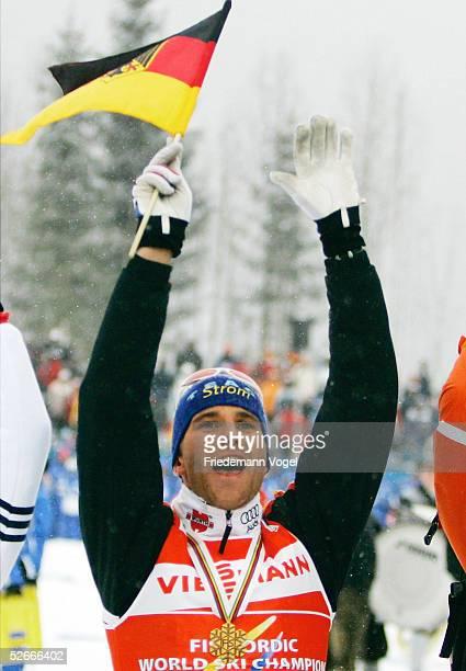 WM 2005 Oberstdorf 270205 Nordische Kombination/Skilanglauf/Sprint Ronny ACKERMANN/GER gewinnt Gold