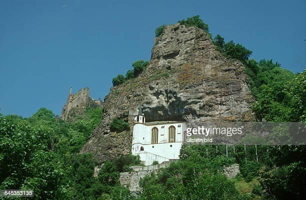 Oberstein: in eine Grotte eingefügte Felsenkirche - Aussenansicht 2000