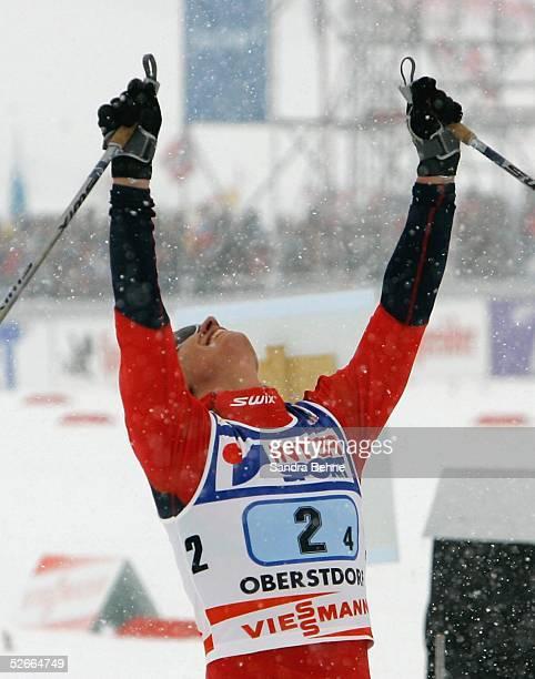 WM 2005 Oberstorf 210205 Skilanglauf/Frauen/Staffel Goldmedaille fuer Team NOR Jubel Marit BJOERGEN