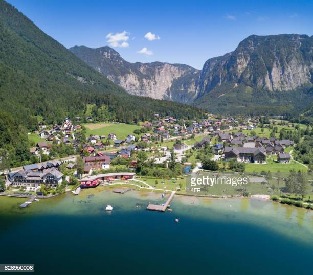 obertraun, lake hallstatt, austria - hallstatter see stock pictures, royalty-free photos & images