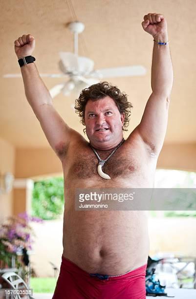 Homme Caucasien obèses issus