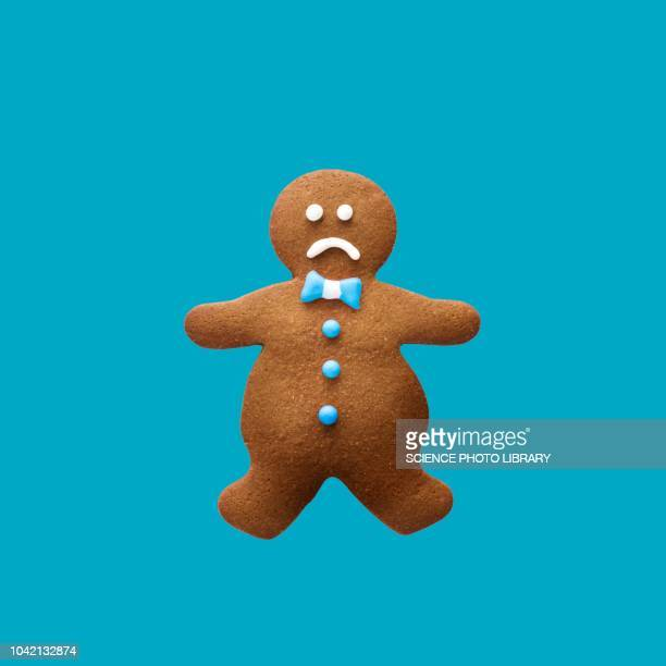 obese gingerbread man - gingerbread men stock pictures, royalty-free photos & images