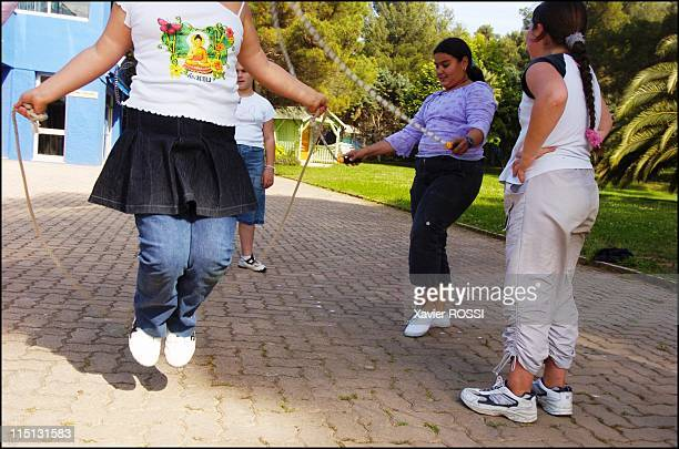 Obese teenagers get a second chance in Sanary Sur Mer France in May 2004 The younger residents of Les Oiseaux rope jumping