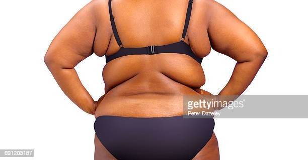 obese woman with copy space - small stock pictures, royalty-free photos & images