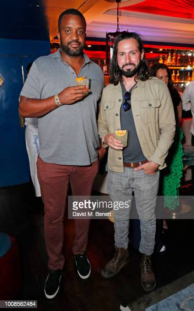 Obi Asika and Andrew Salter attend Casamigos Tequila's 'Away for August' private dinner at Bagatelle on July 31 2018 in London United Kingdom