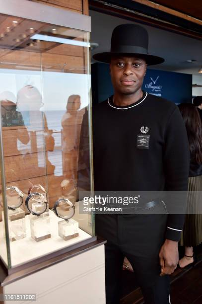 Obi Onyejekwe attends Breguet Marine Collection Launch at Little Beach House Malibu on July 11 2019 in Malibu California
