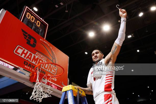 Obi Toppin of the Dayton Flyers celebrates after the game against the George Washington Colonials at UD Arena on March 7 2020 in Dayton Ohio Dayton...