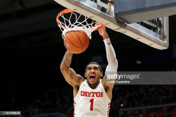 Obi Toppin of the Dayton Flyers dunks the ball in the game against the North Texas Mean Green during the second half at UD Arena on December 17 2019...