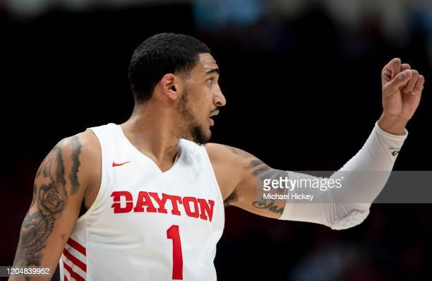 Obi Toppin of the Dayton Flyers his seen during the game against the Davidson Wildcats at UD Arena on February 28 2020 in Dayton Ohio