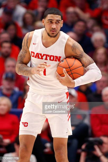 Obi Toppin of the Dayton Flyers in action in the game against the Duquesne Dukes at UD Arena on February 22 2020 in Dayton Ohio