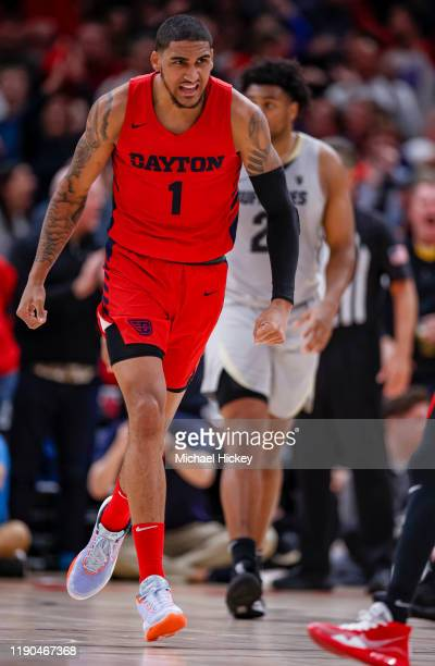 Obi Toppin of the Dayton Flyers is seen during the game against the Colorado Buffaloes at United Center on December 21 2019 in Chicago Illinois