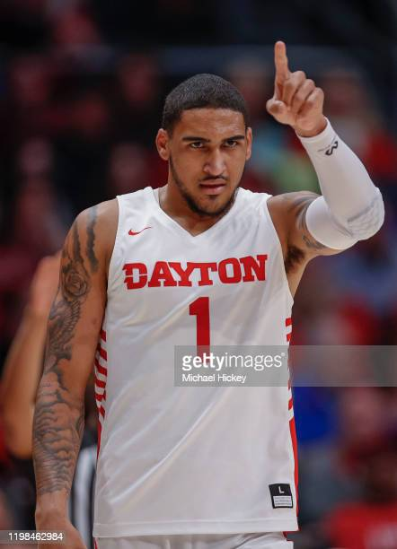 Obi Toppin of the Dayton Flyers is seen during the game against the Fordham Rams during the second half at UD Arena on February 1 2020 in Dayton Ohio