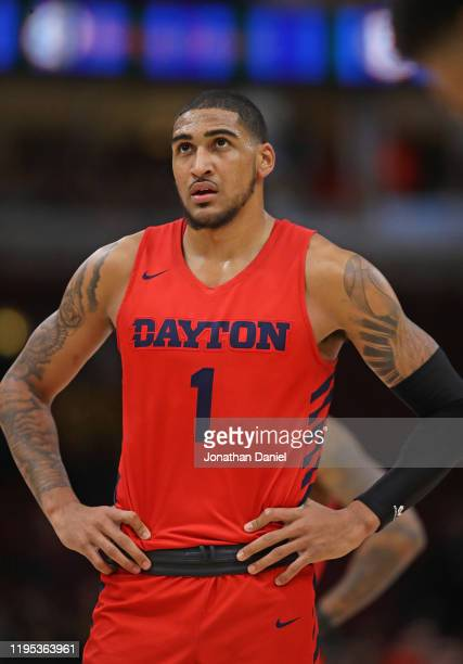 Obi Toppin of the Dayton Flyers waits to shoot a free throw against Colorado Buffaloes at the United Center on December 21 2019 in Chicago Illinois...