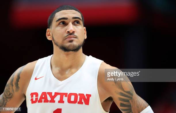 Obi Toppin of the Dayton Flyers watches the action in the game against the VCU Rams at UD Arena on January 14 2020 in Dayton Ohio