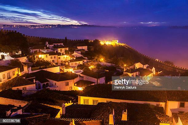 Obidos Old Town at sunrise