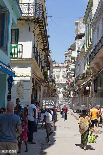 Obispo boulevard in Old Havana Cuba