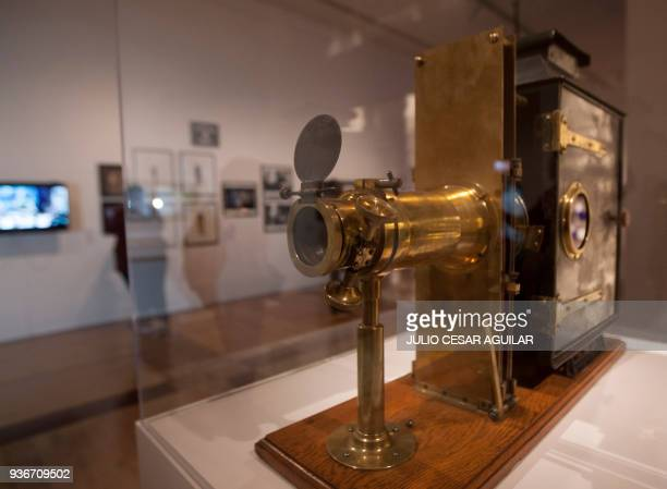 Objects are displayed at the Martin Scorsese the exhibition in the Museum of Contemporary Art in Monterrey Mexico on March 22 2018 The exhibition...