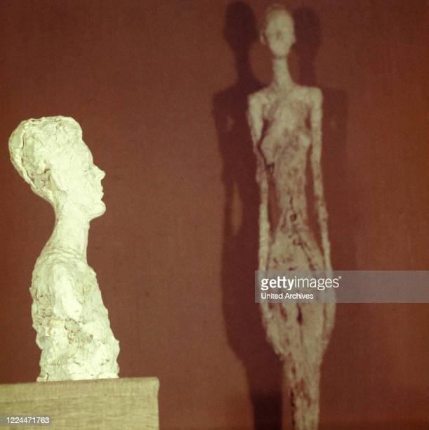 Objects by Swiss artist Alberto Giacometti at his studio in Paris, France 1962.