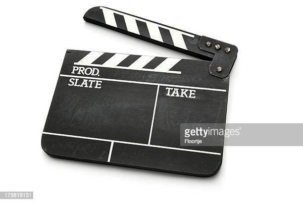 Objects: Clapper Board Isolated on White Background